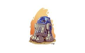 Картинка R2D2, Star wars, Derek Laufman