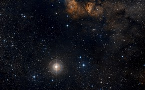 Картинка Stars, RCW 38, Wide Field View, Digitized Sky Survey, Gas clouds, Dust clouds, Constellation of …