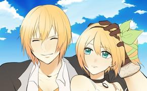 Картинка аниме, арт, девочка, парень, Tales Of Zestiria