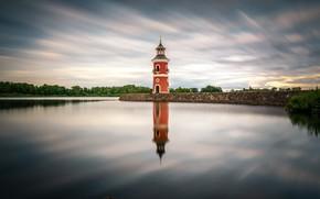 Картинка небо, облака, маяк, Германия, Морицбург