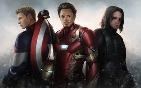 Картинка герой, Iron Man, Marvel, костюмы, Капитан Америка, Captain America, Chris Evans, Tony Stark, Robert Downey, …