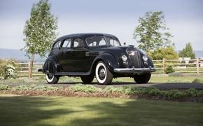 Картинка ретро, Imperial, Chrysler, 1936, Airflow