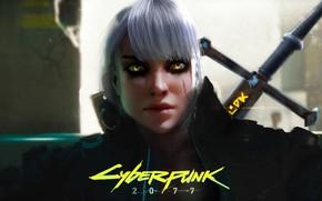 Обои Art, Witcher, Fanart, Cyberpunk 2077, Ciri, Цирилла, Cyberpunk 2077 Fanart, CD Project Red, Marc Euler, ...