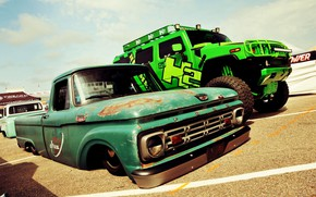 Картинка Ford, Lowrider, Custom, Low car
