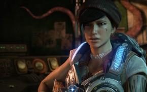 Картинка брюнетка, красотка, gears of war, games, gears of war 4, microsoft game studios, кейт диаз, …