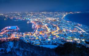 Картинка Japan, Hokkaido, Mount Hakodate