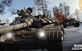 Картинка взрыв, оружие, солдат, танк, пулемёт, activision, treyarch, call of duty black ops cold war