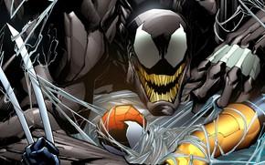 Картинка паутина, комиксы, комикс, человек паук, Веном, Venom