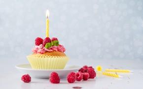 Картинка украшение, свечка, кекс, День рождения, Olena Rudo