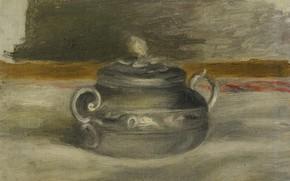 Картинка картина, Пьер Огюст Ренуар, Pierre Auguste Renoir, Сахарница, 1908-09