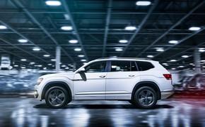 Картинка белый, Volkswagen, профиль, 2018, Atlas, R-Line