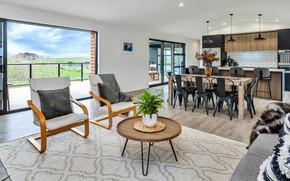 Картинка интерьер, кухня, New Zealand, Auckland, гостиная, столовая