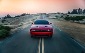 Картинка Красный, Авто, Дорога, Машина, Dodge, Challenger, Dodge Challenger, Concept Art, Передок, Transport & Vehicles, by …