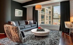 Картинка комната, интерьер, гостиная, by Kyle Spivey Designs, W Residence