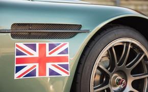 Картинка Флаг, Крыло, Великобриания, Aston Martin DBRS9