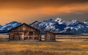 Картинка Fall, Grand Teton National Park, Mormon, Row