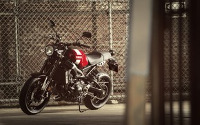 Картинка мотоцикл, red, стоит, Yamaha, moto, Yamaha XSR900, городской мотоцикл