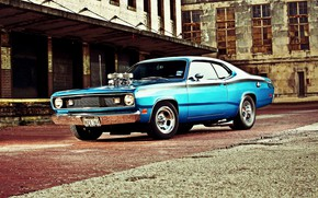 Картинка Muscle, Dodge, Car, Blue, Coupe, Engine, Mopar, Demon, Dodge Demon