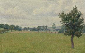 Картинка 1888, Plain of Thierceville, Люсьен Писсарро, Lucien Pissarro