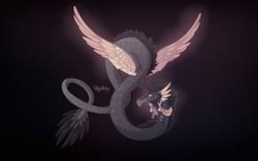 Картинка Рисунок, Дракон, Фон, Fantasy, Dragon, Mythology, Арт, Art, Фантастика, Characters, Monsters, Creatures, Мифология, Candice Sciortino, …