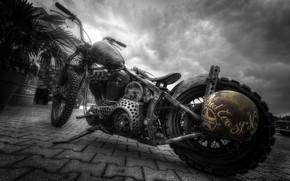 Картинка фон, улица, мотоцикл