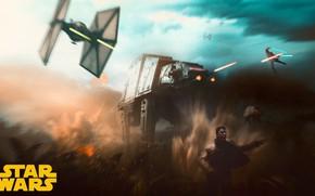 Картинка Star Wars, Concept Art, Fan Art, TIE Fighter, TIE, AT-M6, Art Hellboy, Victor Tomas, Star …