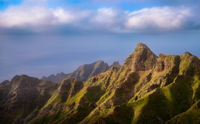 Картинка облака, горы, Испания, Tenerife, Anaga
