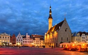 Картинка здания, дома, площадь, Эстония, Таллин, ратуша, Ратушная площадь