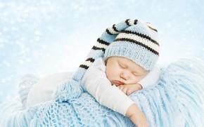 Картинка сон, мальчик, спит, плед, корзинка, шапочка