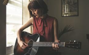 Картинка guitar, американская певица в стиле кантри, Молли Таттл, bluegrass, Molly Rose Tuttle, country folk