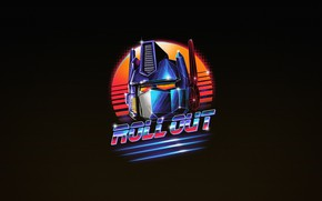Картинка Минимализм, Арт, Neon, Optimus Prime, Transformer, Autobots, Optimus, 80's, Retrowave, Roll Out, Synthwave, by Vincenttrinidad, …