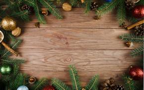 Картинка шары, елка, Новый Год, Рождество, Christmas, balls, wood, New Year, decoration, Merry, fir tree, ветки ...