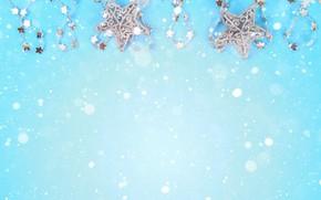 Картинка украшения, фон, Новый Год, Рождество, Christmas, blue, New Year, decoration, Merry