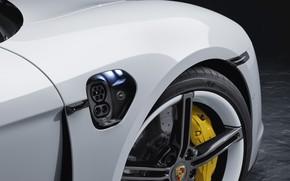 Картинка колесо, Porsche, Turbo S, 2020, Taycan