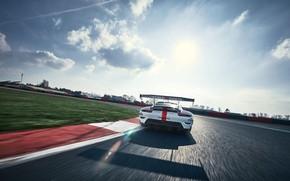 Картинка Небо, Облака, Porsche, Скорость, Porsche 911, Антикрыло, 2020, Porsche 911 RSR