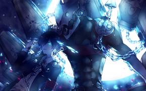 Картинка существо, демон, парень, цепи, Persona 5, Персона