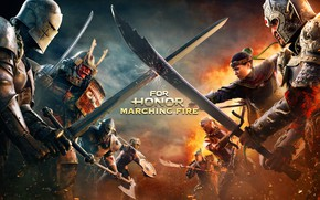 Картинка Игра, Доспехи, Шлем, Воины, Мечи, Games, Game, For Honor, Квест, For Honor: Marching Fire
