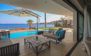 Картинка мебель, вилла, интерьер, бассейн, терраса, Cannes