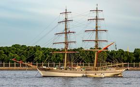 Картинка корабль, парусный, тре крунур