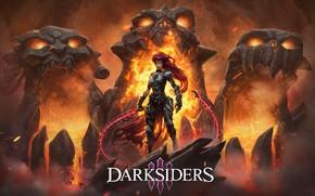 Картинка цепь, game, Ярость, всадник апокалипсиса, Fury, Darksiders III, обугленный совет