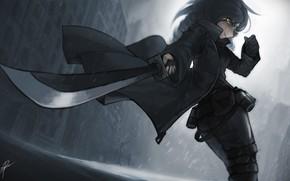 Картинка меч, арт, парень, Zhao-P, by Zhao-P