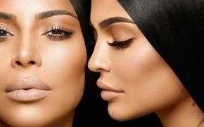 Картинка сестры, Kim Kardashian, Kylie Jenner