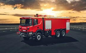 Картинка airport, scania, fire truck, P500, ARFF