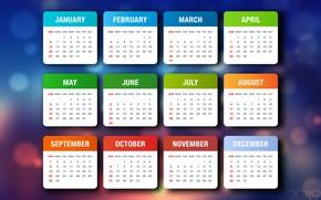 Картинка Минимализм, Фон, Background, Числа, Minimalism, Год Свиньи, Год 2019, Календарь 2019, Месяца, Недели