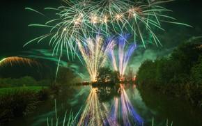 Картинка Англия, Ланкашир, Ночь костров, Ночь фейерверков, Ночь Гая Фокса
