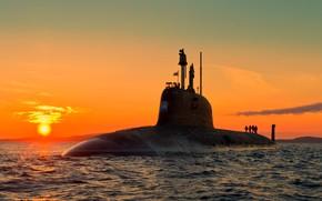 Картинка лодка, подводная, вмф, атомная, проект 885, северодвинск