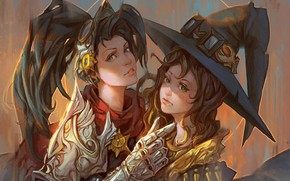Картинка девушки, шляпы, ведьмочки