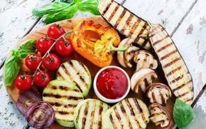 Картинка перец, овощи, помидоры, tomatoes, кабачки, pepper, vegetables