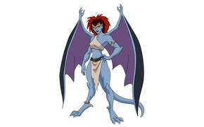 Картинка крылья, существо, wings, мультсериал, TV series, animated series, Demona, гаргульи, Gargoyles, Демона