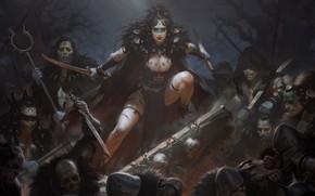 Картинка девушка, зомби, нежить